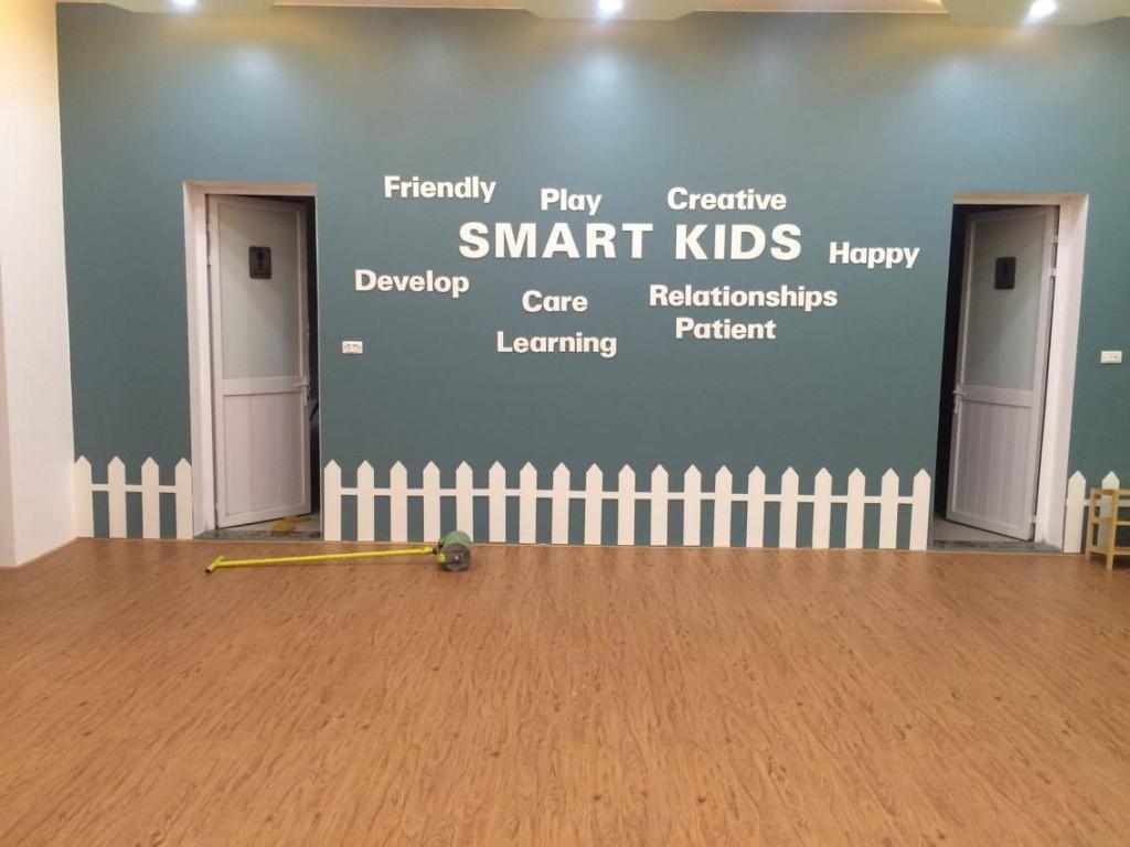Sàn Nhựa Giả Gỗ Trường Mầm Non Smart Kids - ÁĐông Floor.
