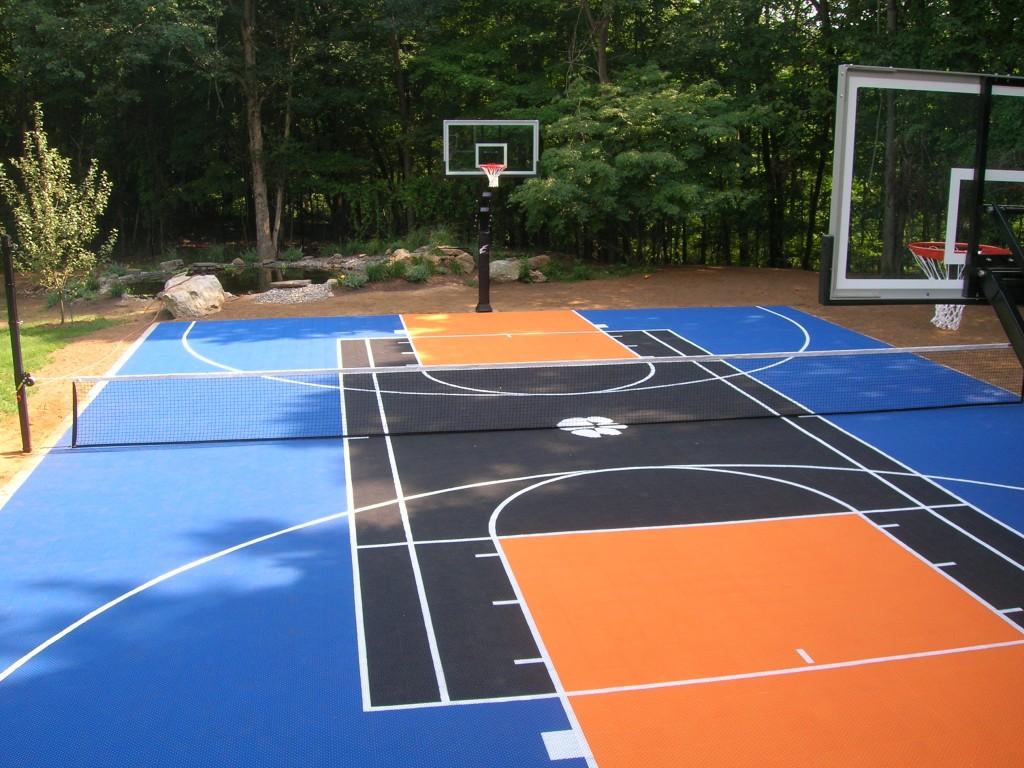 thi công sân bóng rổ